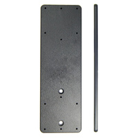 Extension plate, 155x50x5mm, with predrilled AMPS holes